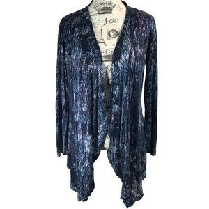 Xhilaration High Low Butterfly Cardigan Blue L
